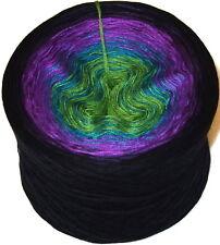 200g Farbverlaufsgarn 4-Fädig Wolle Bobbel Knäuel Designergarn BW / Acryl (108)