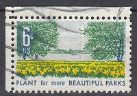 USA Briefmarke gestempelt 6c Plant for more beautiful Parks Eckrand / 1251
