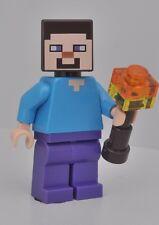 LEGO® MINECRAFT STEVE FIGUR NEU MIT FACKEL AUS 21113 21119 DIE HÖHLE