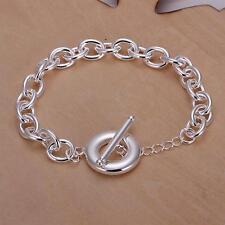beautiful Fashion lady best silver charm chain women cute bracelet H90