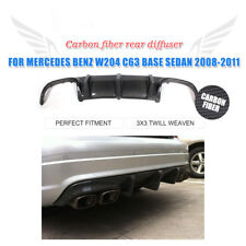Carbon Fiber Rear Bumper Diffuser Lip Fit For Mercedes Benz W204 C63 AMG 08-11