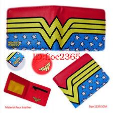 DC SuperHero Wonder Woman Wallet Leather Short Bifold Purse Women Cosplay Gift