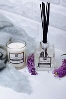Candle & Diffuser Gift Set Cashmere & Lilac Scented Soy Wax With Luxury Gift Box