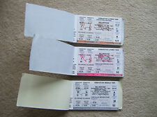 book of 35 unused tickets derby v gillingham 22/1/97 fac rep grey osmas middle