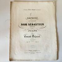 Spartito Caprice Per Piano Barcarole Di Dom Sebastien Ernest Dejazet Op.33