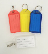 4pc Key ID Label Tags Key Ring Holder Tags Key Chain With Write-on Label Window