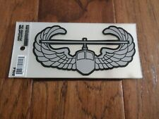 """U.S Army Air Assault Window Decal Sticker Air Mobile 6 1/4"""" X 3 1/4"""" Clear Back"""