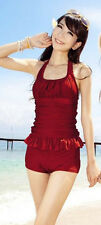 2 pieces women's bathing suit swimsuit-2 pcs tankini swimsuit size 6-8 Red