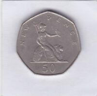 50 pence Großbritannien 1969 Britannia Elizabeth II Great Britain