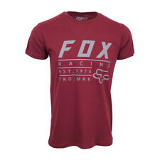 FOX RACING MENS ESTABLISHED T SHIRT PREMIUM LOGO T SHIRT WINE