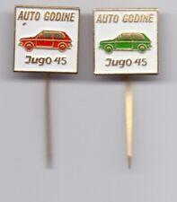 pins pin badge anstecknadel YUGO 45 ZASTAVA YUGOSLAVIA car of the year! vintage
