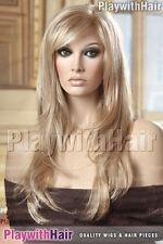 Long Straight Mono Top Wig Stunning Blonde