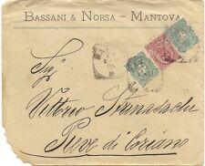 P8053   Mantova, busta per Pieve di Coriano, 1901
