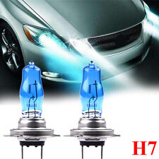 2 x H7 12V 55W Xenon White 6000k Halogen Car Head Light Lamp Globes / Bulbs Blue