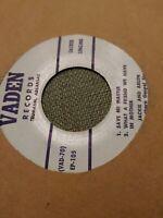 Jackie & Arlen 45 Save Me Master/W Vaden EP-105 Private Southern Gospel Arkansas