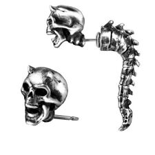 GENUINE Alchemy Gothic Earring - Wraith Spine | Men's Biker Faux Ear Stretcher