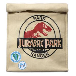 Jurassic Park Lunch Bag Ranger Themed Cotton in Aluminium Foil Insulated Lining