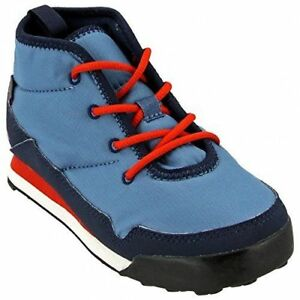 Adidas CW Snowpitch Chukka Outdoor Boots - Youth-Big Kids Size 4.5- Blue and Red