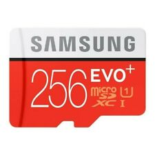 CARTE MEMOIRE MICRO SD + ADAPTATEUR 256 Go Memory Card SAMSUNG EVO PLUS