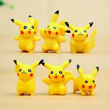 6pcs Pokemon Pikachu Action Figures Cake Toppers Doll Set Kids Boy Girl Toy Gift