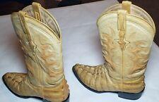 Denver Mountain Boar Skin Boots size 8