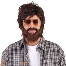 Mens Alan Hangover Wig & Beard Film Stag Do Fancy Dress Costume Accessory