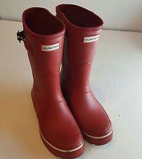 HUNTER red mid calf rain boots US8
