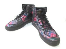 Auth MARC JACOBS S87WS0183 Black Multi Leather Sneakers Men's US#8.5