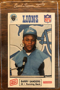 Detroit Lions 1989 Barry Sanders Rookie Card RC Detroit Police Oscar Mayer #11