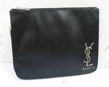 Yves Saint Laurent Black Cassandra Beaute Clutch Bag With Extending bottom New