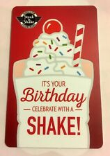 Steak N Shake It's Your Birthday Celebrate W/A Shake! Milkshake 2017 Gift Card