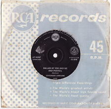 """JEFFERSON AIRPLANE - BALLAD OF YOU AND ME & POONEIL Ultrarare 1967 OZ 7"""" PSYCH!"""