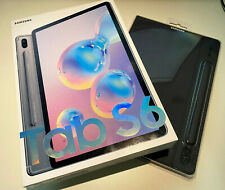 *NEW, BUNDLE* Samsung Tab S6 128GB Wifi Gray with Samsung bookcover case
