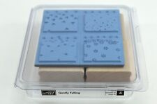 Stampin Up Gently Falling Set Of 4 Unmounted Rubber Stamps Clamshell Case 2006