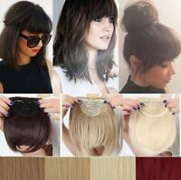 Gorgeous Natural Clip on Front Neat Bang Fringe Hair Extensions Any Colors