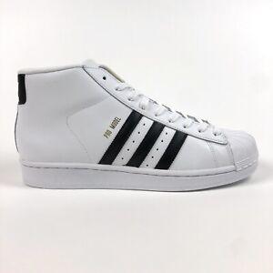 Adidas Originals Pro Model Mens 10 White Black Shell Toe Sneakers Shoes S85956