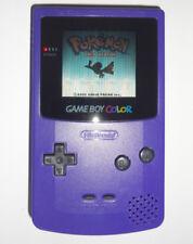 NEW GLASS SCREEN LENS Nintendo Game Boy Color grape Purple Handheld System