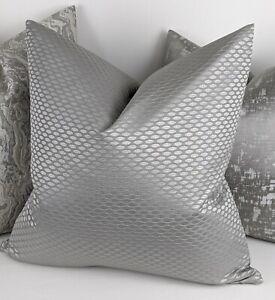 John Lewis Contour Fabric cushion Cover Grey Handmade Reversible.