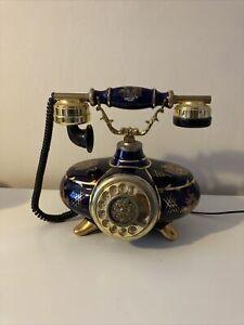 Ornate Vintage Cradle Phone Rotary Dial
