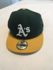 Oakland Athletics A's New Era 59Fifty Fitted Cap Made In USA Hat Size 7 5/8
