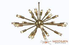 Sputnik Atomic Lamp Light Chandelier Brushed Brass 50's Mid Century Modern Eames
