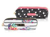 Betsey Johnson Nylon Cute Pencil Case Bag Pen Pouch Stationary Office School Sup