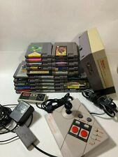 Nintendo NES Console 2 Controllers 25 Games Mario Contra 1+2 Castelvania Zelda