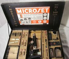 1913 Microset Science Kit Model 3 MW w/75 to 500 Power Microscope Carolyn Mfg