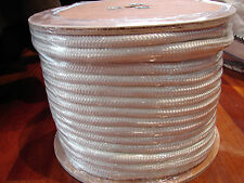 16mm X 100m Polyester Double Braided Yacht Rope Plain White Strong 3449kg