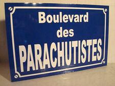 Réplique plaque de rue  parachutisme  parachutiste parachute para parachutistes