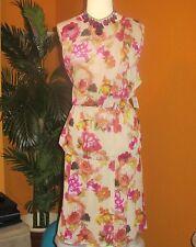 KATE HILL NWT $188 22W women's skirt shirt dress floral 2-piece sleeveless