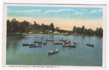 Boating Camp Sapphire Brevard North Carolina 1920s postcard