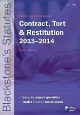 Blackstone's Statutes on Contract, Tort & Restitution: 2012-2013 by Oxford Unive