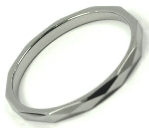 Tungsten Carbide Ring Wedding Band Thin X Faceted Design 2mm RJ Jewelry Titanium